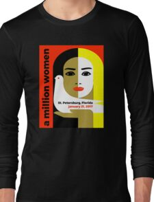 Women's March St. Petersburg Florida Jan 21 2017 Long Sleeve T-Shirt