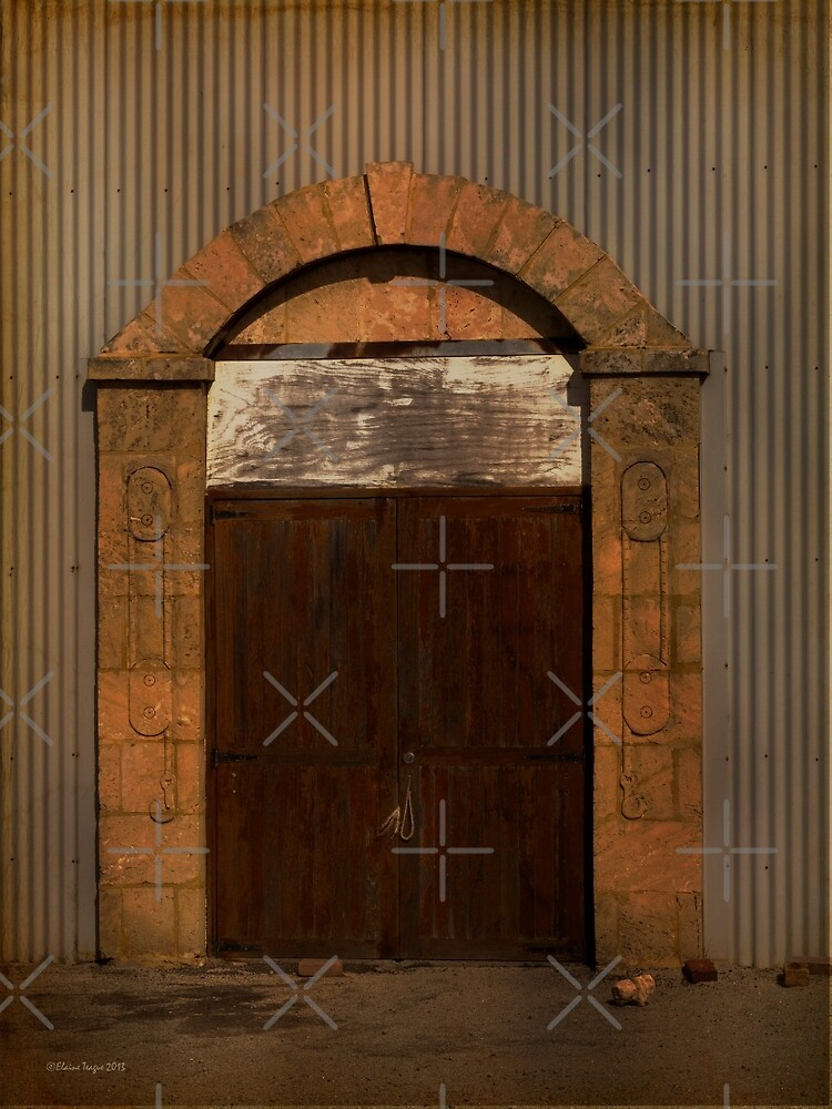 Door to the Boat Shed, Albany, Western Australia by Elaine Teague