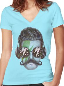 Dude Women's Fitted V-Neck T-Shirt
