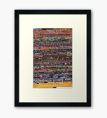 The ENTIRE BEE MOVIE but it's on a t-shirt Framed Print