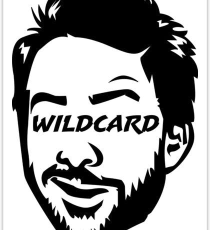 Wildcard bw Sticker
