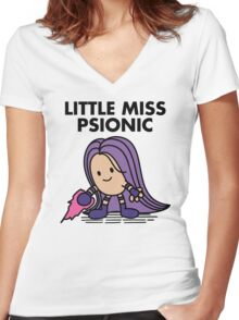 Little Miss Psionic Women's Fitted V-Neck T-Shirt