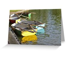 Row Row your boat Greeting Card
