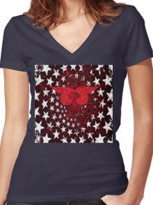 RightOn Stars Women's Fitted V-Neck T-Shirt