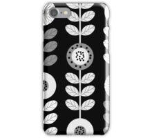 Bold White Flowers on Black iPhone Case/Skin