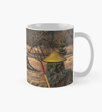 OK DEAR TAKE THE PICTURE QUICKLY WE HAVE TO GET BACK TO WORK...FELINE FARMERS PICTURE - CARD-MUG Mug