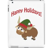 Happy Holidays! Elf Yak iPad Case/Skin