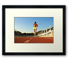 Running in the History Framed Print