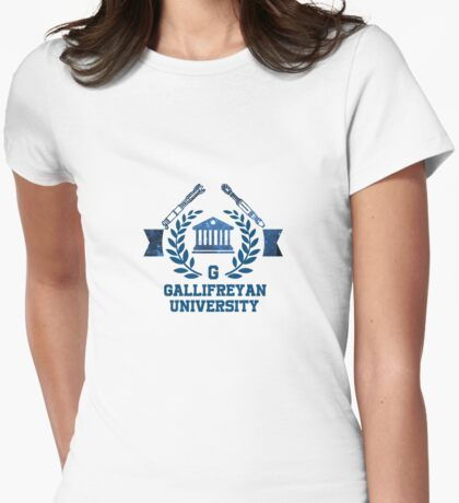Gallifreyan Uni Womens Fitted T-Shirt