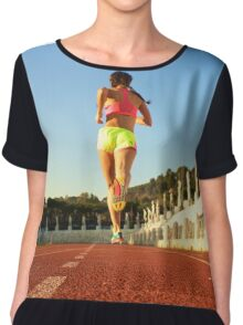 Running in the History Chiffon Top