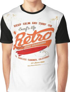 Retro Surf Boarding Vintage Graphic T-Shirt