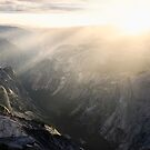 Half dome at sunset by Hotaik  Sung