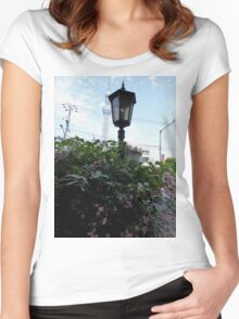 back street in Tokyo Women's Fitted Scoop T-Shirt