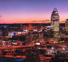 Cincinnati skyline at night by Hotaik  Sung