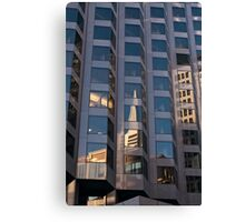 Transamerica building reflected in the windows Canvas Print