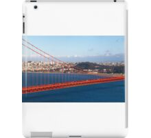 Golden gate bridge and a container ship iPad Case/Skin