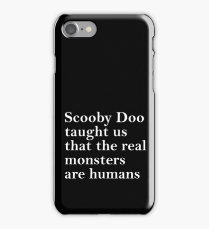 Lessons from Scooby Doo (White) iPhone Case/Skin