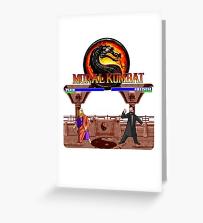 MORAL KOMBAT Greeting Card