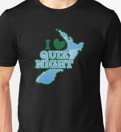 I love QUIZ Night with New Zealand Map Unisex T-Shirt
