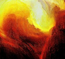 red gorge eruption...red hot lava flow by banrai