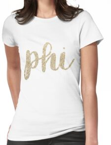 phi gold Womens Fitted T-Shirt