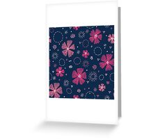 Carthusian Pink Embroidery / repeat pattern Greeting Card