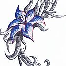 Coloured pen flower by Perggals© - Stacey Turner