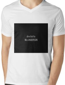 Directed by Wes Anderson Mens V-Neck T-Shirt