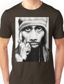 Wu Tang Clan RZA Portrait Charcoal Pencil Unisex T-Shirt