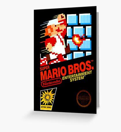 Mario Bros. Greeting Card