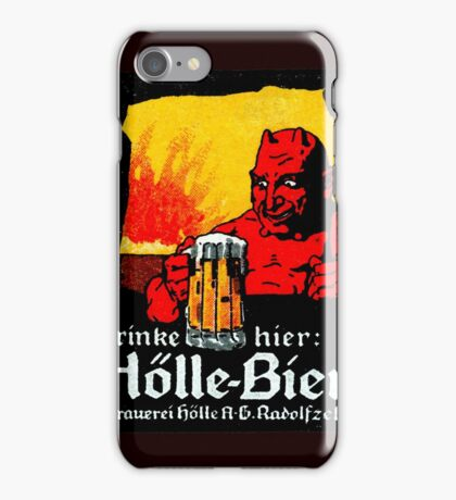 1905 Beer Drinking Devil iPhone Case/Skin