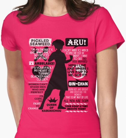 Gintama - Kagura Quotes Womens Fitted T-Shirt