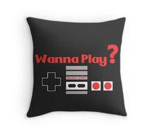 Nintendo- Wanna Play? Throw Pillow