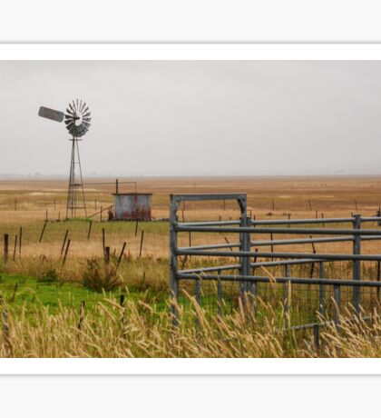 Rural Scene on a Dry Lake George Sticker
