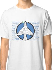 Peace in languages and symbols Classic T-Shirt