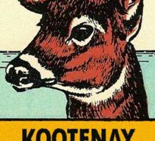 Kootenay National Park BC Canada Vintage Travel Decal Sticker