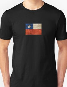 Vintage Aged and Scratched Chilean Flag Unisex T-Shirt
