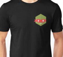 Teenage mutant minimalist turtles Raphael (black) Unisex T-Shirt