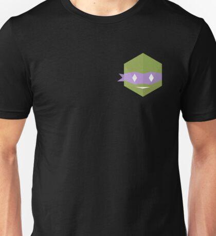 Teenage mutant minimalist turtles Donatello (black) Unisex T-Shirt