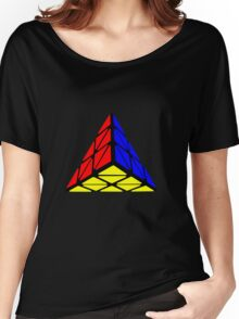 Pyraminx cude painting Women's Relaxed Fit T-Shirt