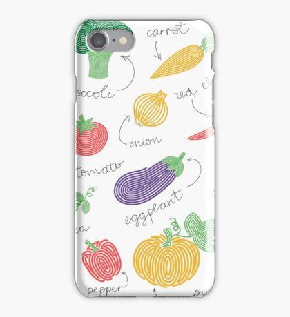 Hypnotizing vegetables iPhone Case/Skin