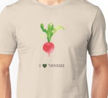 Radish - I love veggies Unisex T-Shirt
