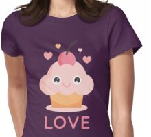Love Cupcake Womens Fitted T-Shirt