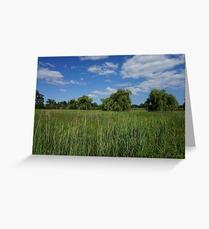 Trees on a field Greeting Card