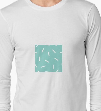 Postmodern Confetti in Atomic Mint Long Sleeve T-Shirt