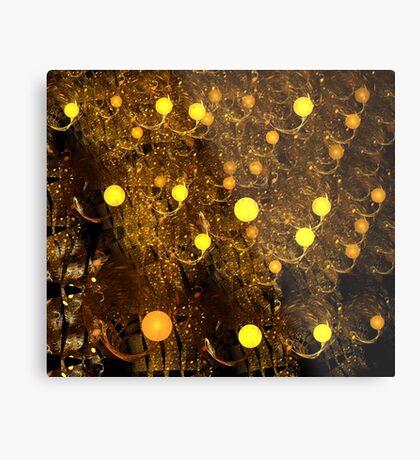 Yellow Chandelier Metal Print