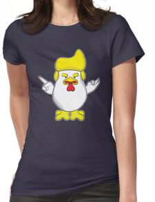 Trump Rooster Womens Fitted T-Shirt