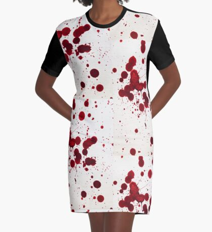 Blood Spatter 7 Graphic T-Shirt Dress