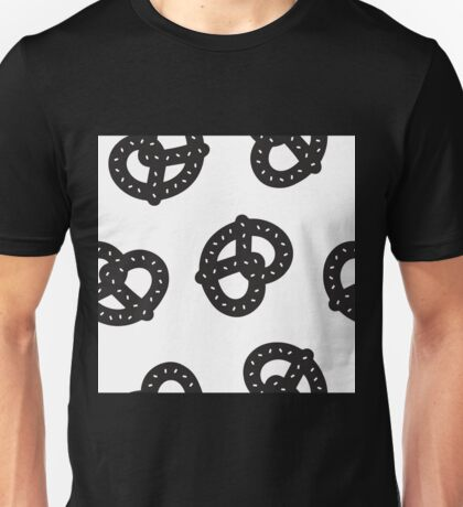 Postmodern Pretzel Toss in Black + White Unisex T-Shirt