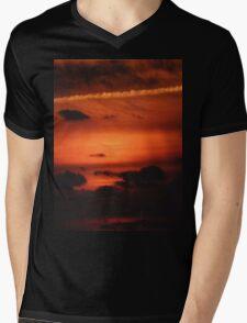 Sunrise over Dune Road Mens V-Neck T-Shirt